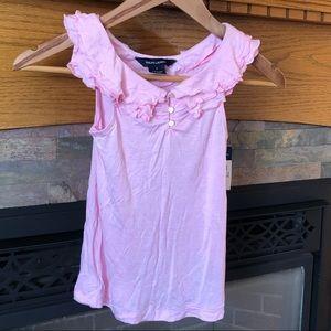Ralph Lauren pink ruffle tank top